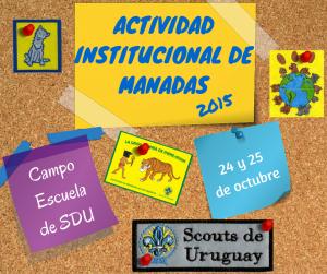 Actividad Institucional de Manadas 2015 - SDU